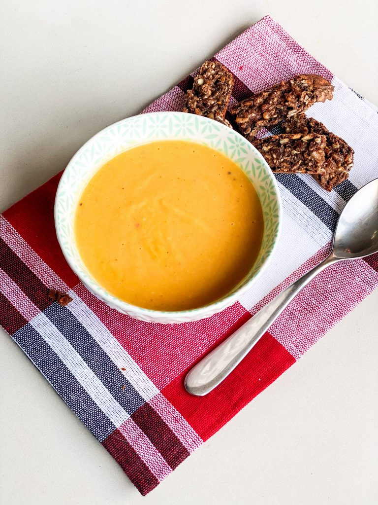 Roasted Butternut Squash, Coconut and Chilli Soup